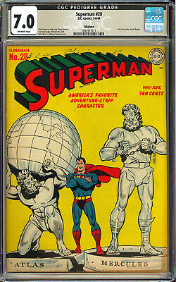 Superman 28 OKAJIMA Pedigree RARE High Grade WWII DC Comic 1944 CGC 70