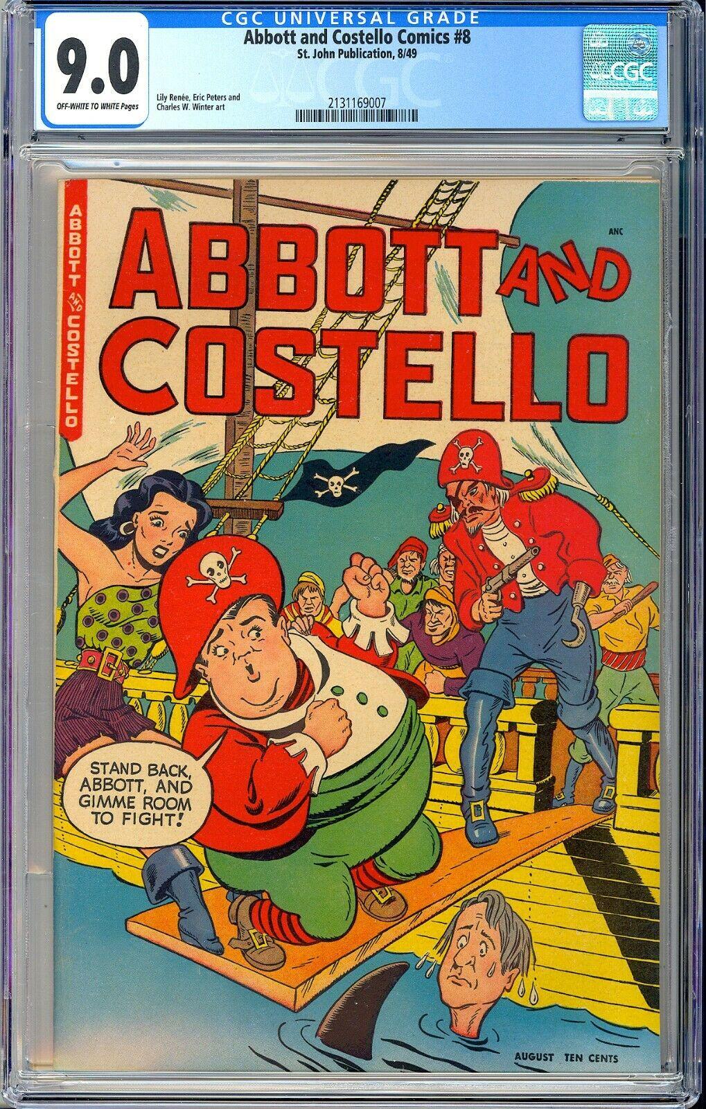 Abbott and Costello Comics 8 Highest Graded Copy PreCode St John 1949 CGC 90