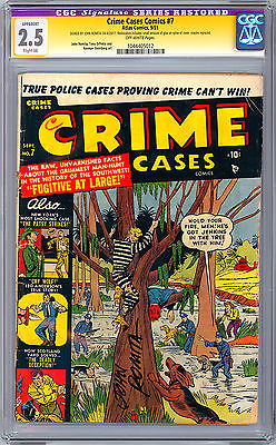 CRIME CASE COMICS 7 CGCSS 25 EARLY  RARE JOHN ROMITA ART RESTORED GRADE 1951