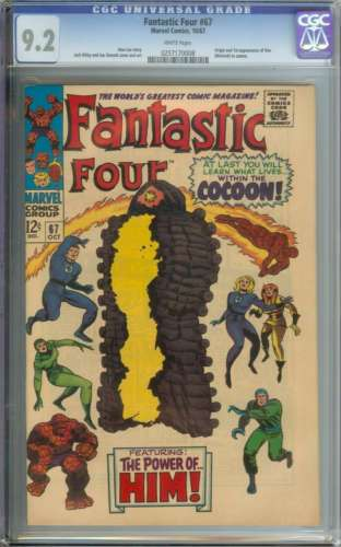FANTASTIC FOUR 67 CGC 92 WHITE PAGES