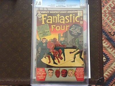 Fantastic Four 11 Feb 1963 Marvel CGC 70 Origin and 1st Impossible Man
