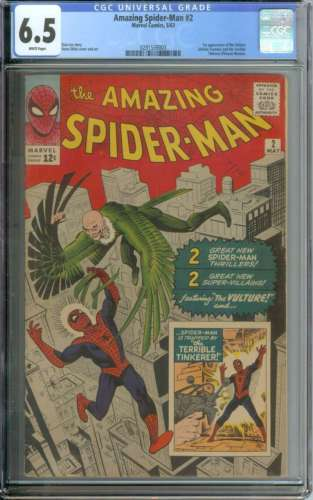 AMAZING SPIDERMAN 2 CGC 65 WHITE PAGES
