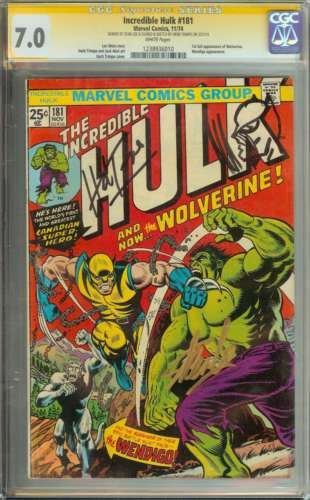 INCREDIBLE HULK 181 CGC 70 WHITE PAGES