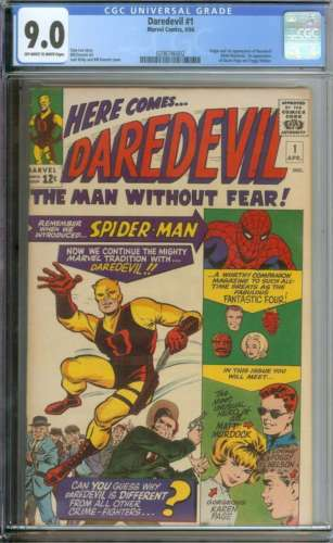 DAREDEVIL 1 CGC 90 OWWH PAGES