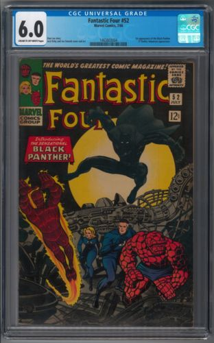 Fantastic Four 52 CGC 60 Silver Key 1st Black Panther Jack Kirby Inhumans Stan