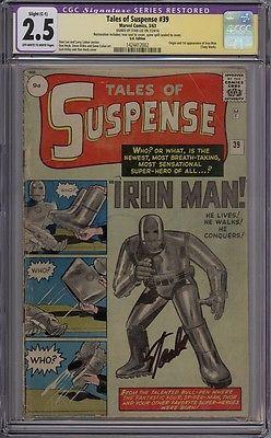 Tales Of Suspense 39  CGC Sig Series Graded 25 Restored  1st Iron Man
