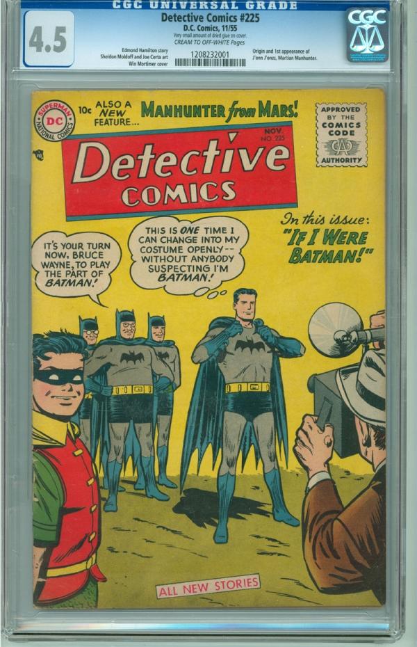Detective Comics 225 CGC 45 VG DC 1955 Batman 1st Appearance Martian Manhunter