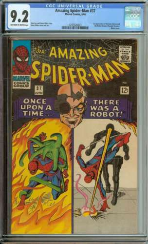 AMAZING SPIDERMAN 37 CGC 92 OWWH PAGES