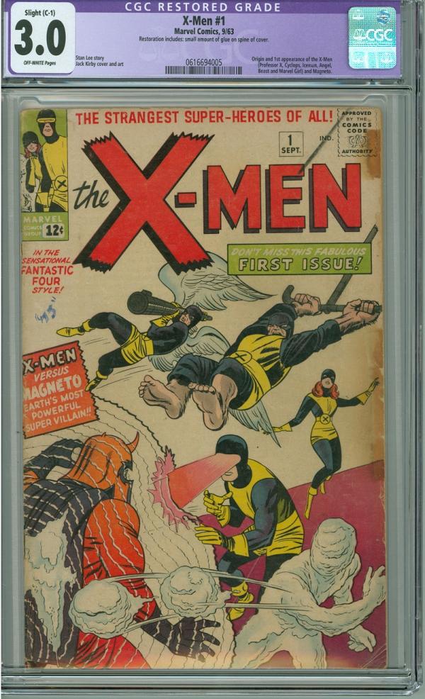 Xmen 1 CGC 30 GVG C1 Marvel 1963 1st Appearance and Origin of Xmen  Magneto