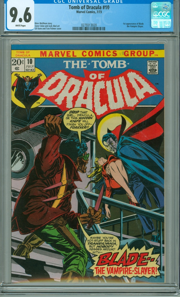 Tomb of Dracula 10 CGC 96 NM White Page Original Owner 1st Appearance of Blade