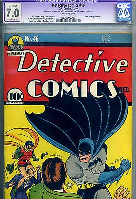 DETECTIVE COMICS  46 CGC 70 MP REST  1940