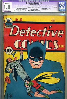 DETECTIVE COMICS  42 CGC 18 MP REST  1940