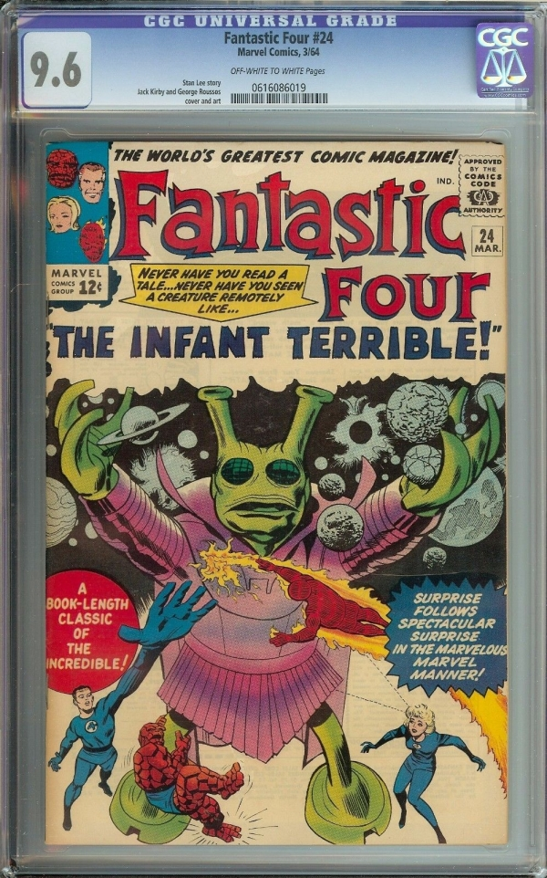 FANTASTIC FOUR 24 CGC 96  STAN LEE STORYJACK KIRBY ART