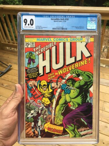 Hulk 181 CGC 90 OffWhite To White Pages  First Appearance Of Wolverine