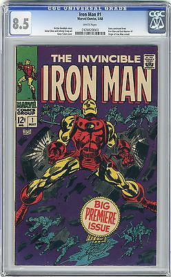 1968 Iron Man 1 CGC 85 White Pages