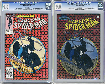 1988 Amazing SpiderMan 300  1998 Chromium CGC 98 1st Venom