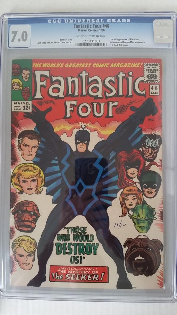 Fantastic Four 46 CGC 70 FVF   1st Appearance of Black Bolt