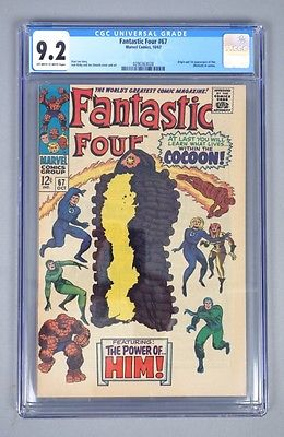Vintage 1967 Marvel Fantastic Four 67 CGC Graded 92 Silver Age Comic Book