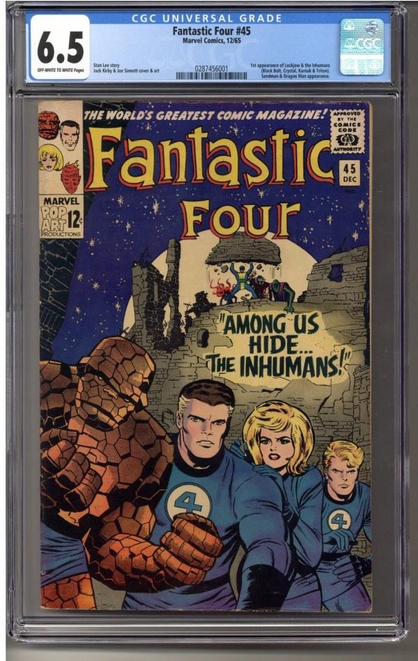 Fantastic Four  45 CGC 65 02874560011st Appearance of Inhumans OWW