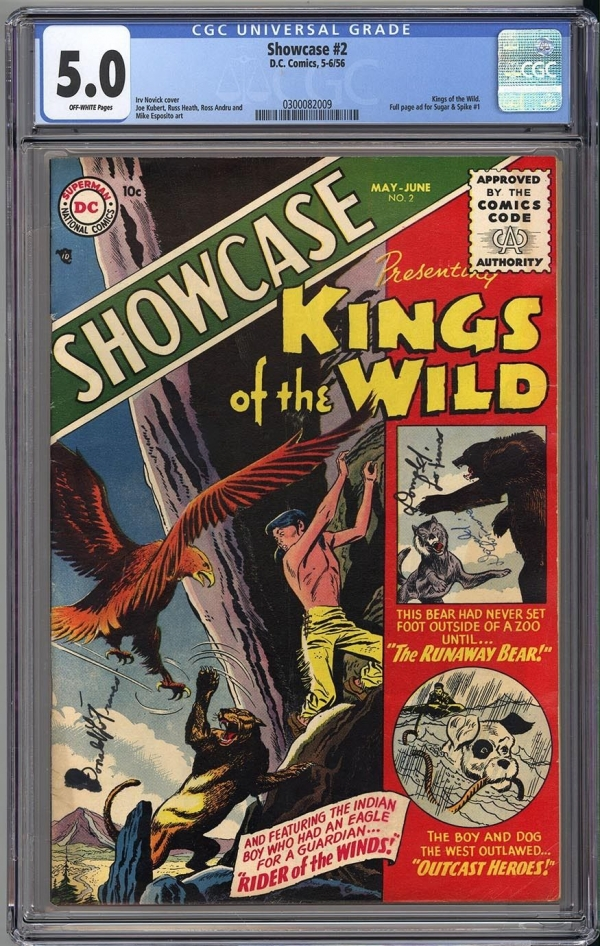 SHOWCASE 2  CGC 50  VERY SCARCE to RARE ISSUE  1956  DEEP COLORS A BEAUTY
