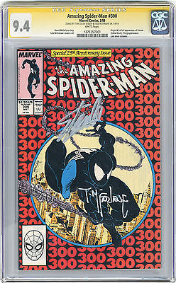 1988 Amazing SpiderMan 300 CGC 94 Signed By Stan Lee  McFarlane 1st Venom