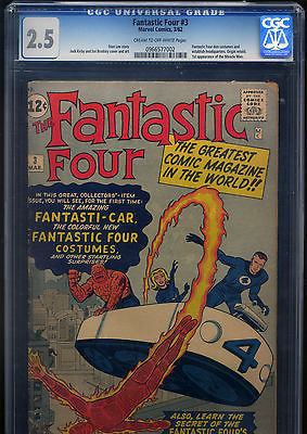 Fantastic Four 3  25 CGC   65000  or Genuine Best Offer