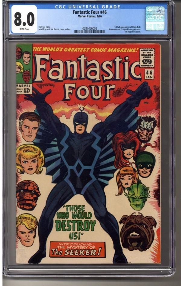 Fantastic Four  46 CGC 80 02874560021st Full Appearance of Black Bolt W