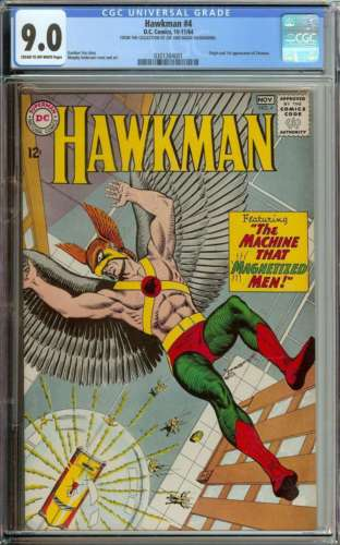 HAWKMAN 4 CGC 90 CROW PAGES