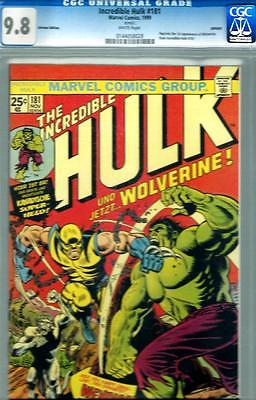 Incredible Hulk 181 CGC 98  The Classic 1st app of Wolverine