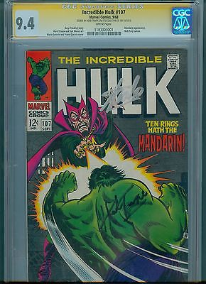 Incredible Hulk 107 CGC Signature Series 94 White Pgs LeeTrimpe Autograph