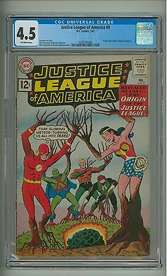 Justice League of America 9 CGC 45 OW pages Origin of JLA 1962 c07701