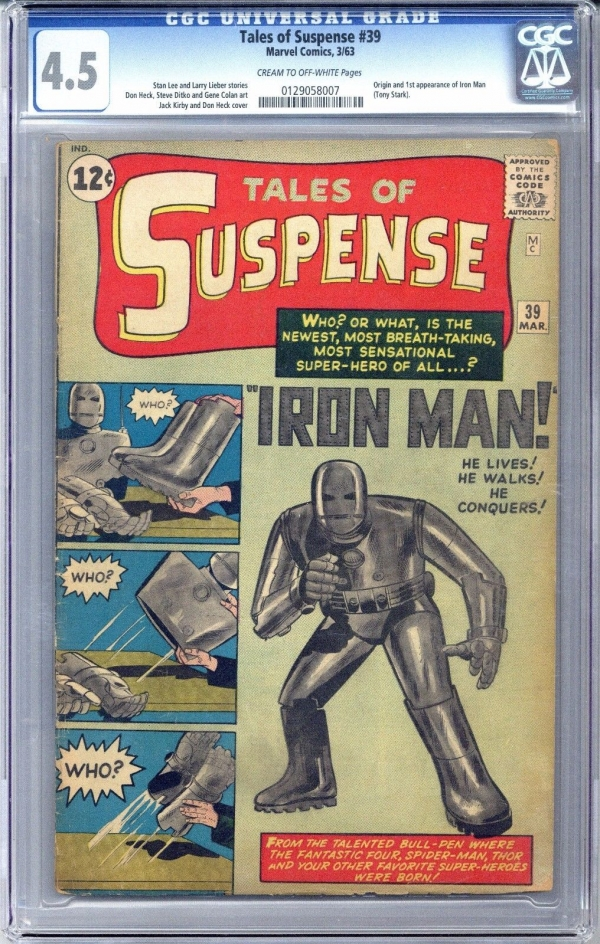 Tales of Suspense 39  CGC 45