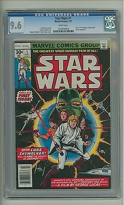 Star Wars 1 CGC 96 White pg A New Hope adaptation Marvel 1977 c10278