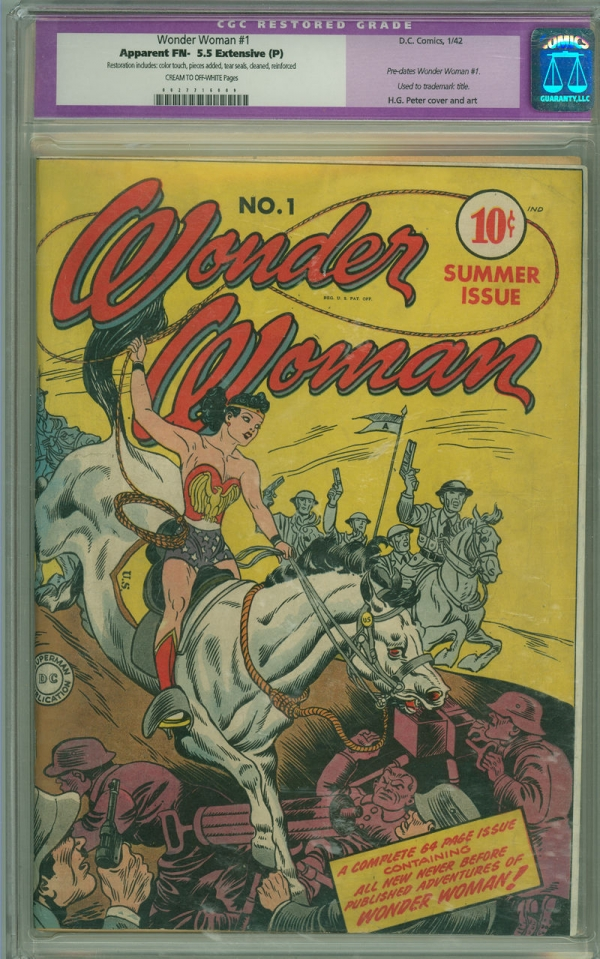 Wonder Woman 1 CGC 55 FN EP DC 1942 Mega Key Issue  Time Payments Available