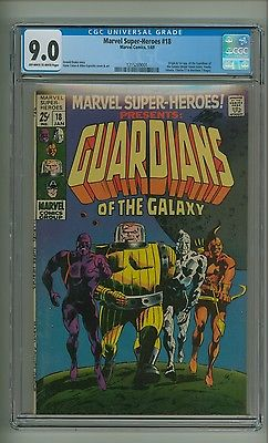 Marvel SuperHeroes 18 CGC 90 OWW pgs 1st Guardians of the Galaxy c12358