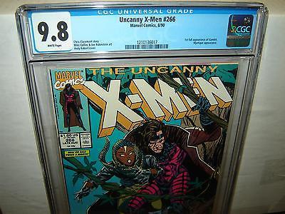 XMen 266 CGC 98 White p 1st full GAMBIT Mystique 1990 Marvel r00069