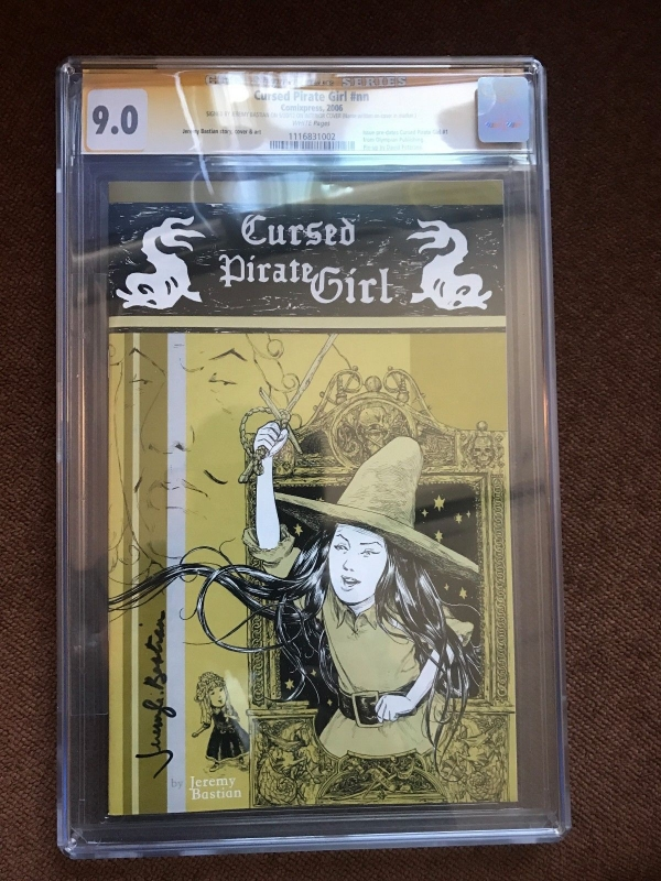 Cursed Pirate Girl 1 1st Printing 2006 Comixpress CGC SIGNED by Jeremy Bastian