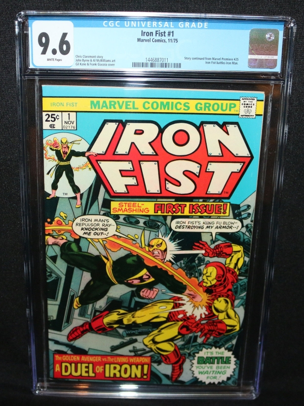 Iron Fist 1  Story Contd from Marvel Premiere 25  CGC Grade 96  1975