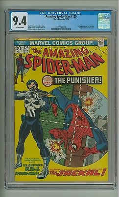 Amazing SpiderMan 129 CGC 94 OW pgs 1st app Punisher and Jackal c12834
