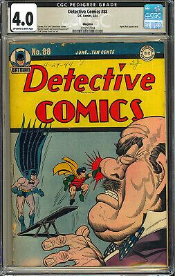 Detective Comics 88 OKAJIMA Pedigree RARE Batman WWII DC 1944 CGC 40