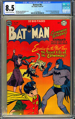 Batman 62 High Grade Original Owner Catwoman Origin DC Comic 1950 CGC 85