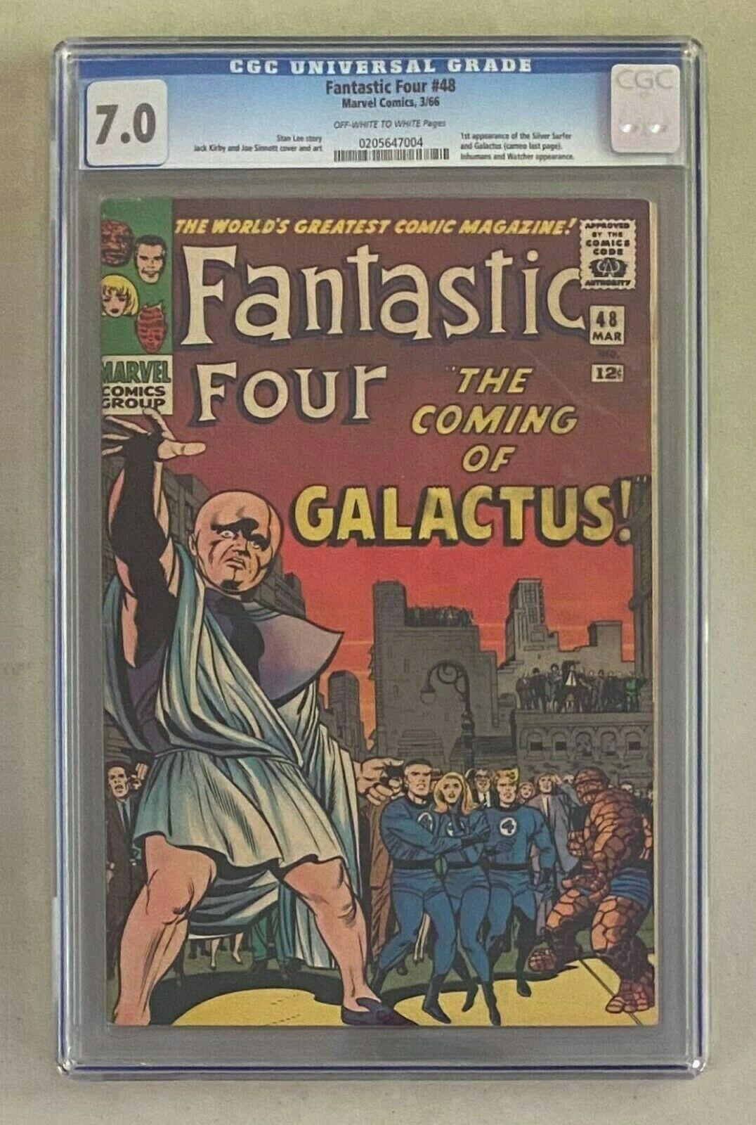 FANTASTIC 4 FOUR 48 Marvel Comics 1966 CGC 70 Silver Surfer 1st Appearance