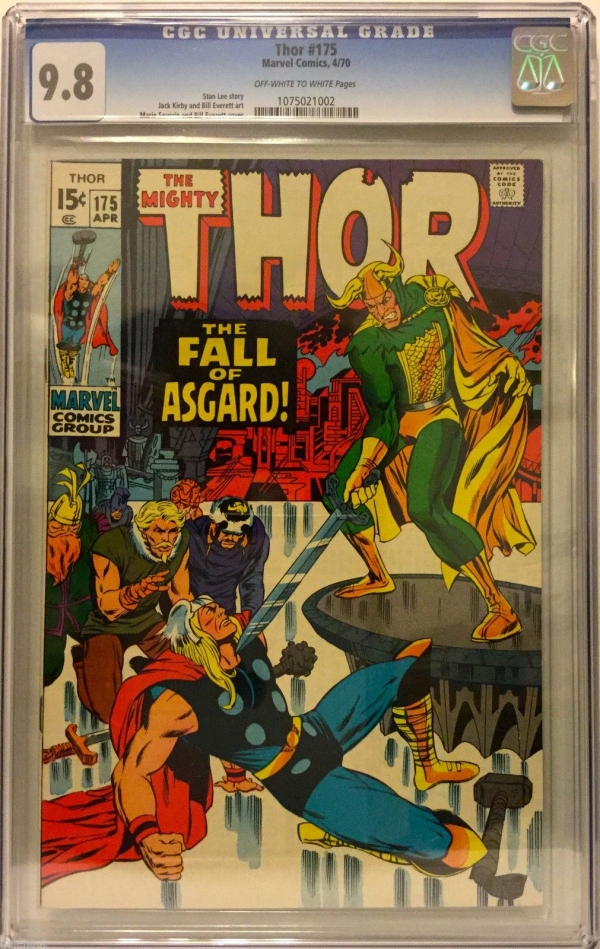 THE MIGHTY THOR 175 CGC 98 OWW STAN LEE  JACK KIRBY CLASSIC