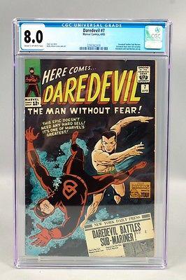 Vintage 1965 Marvel Daredevil 7 Comic Book CGC Graded 80 incl SubMariner