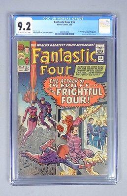 Vintage 1965 Marvel Comics Fantastic Four 36 CGC Graded 92 Silver Age Comic