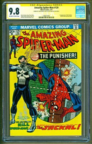 Amazing SpiderMan 129 1st app Punisher Signed Stan Lee  John Romita CGC 98