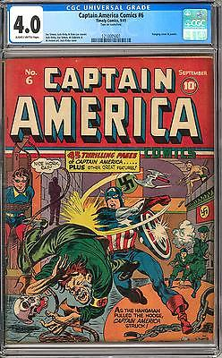 Captain America Comics 6 CGC 40 SB Kirby Cover Hanging Cover and Art