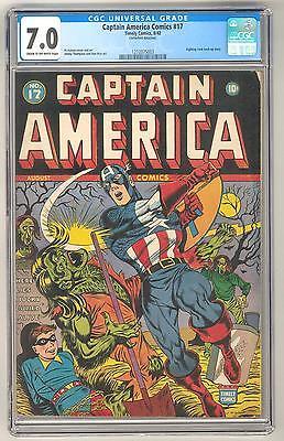 Captain America Comics 17 CGC 70 COW Fighting Yank