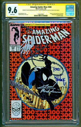 Amazing SpiderMan 300 1988 Marvel 3x Signed Todd Mcfarlane Stan Lee CGC 96