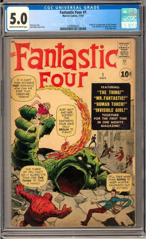 Fantastic Four 1 CGC 50 COW Origin  1st Appearance of the Fantastic Four